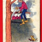 Vintage Comic Postcard - c1906 Wont be here long 112