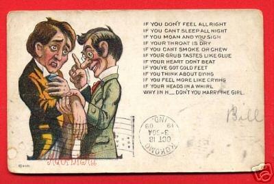Vintage Comic Postcard - c1909 Marry the Girl! 113