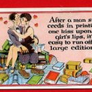 Vintage Postcard - Comic Valentine kissing leads to 119