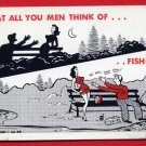 Vintage Comic Postcard - Risque -  He was That Long 730