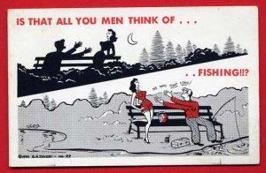 Vintage Comic Postcard - Risque -  He was That Long 730