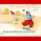 Vintage Postcard – Moving Along Comic c1907 - 842