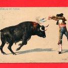 Vintage Postcard - Bullfighter toro & matador c1908 428