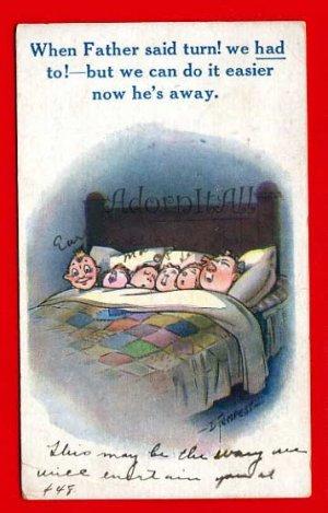 Vintage Postcard � artist signed by Douglas Tempest Kiddy Comic 835