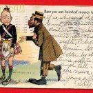 Vintage E Nash Postcard - Black man & Scots man circa1905  210