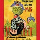 "Vintage comic ostcard - Black Americana ""suttinly got yo on mah mind"" maybe E Nister artist? B60"