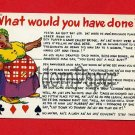 Vintage comic Postcard - Black Americana - woman hears sexy card talk!  B62