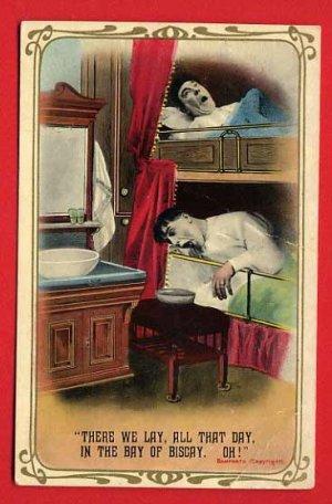 Vintage Comic Postcard � Banforth c1914 - barfing on the High Seas  725