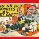Vintage Comic Postcard: Livingston c1905 - Little Troubles - Father needs a drink! 212