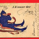 Vintage Comic Postcard - circa 1910 A K-night off (a pun) 213