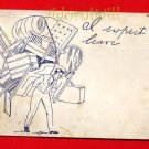 Vintage Comic Postcard - circa 1907 - heavy moving burden 216