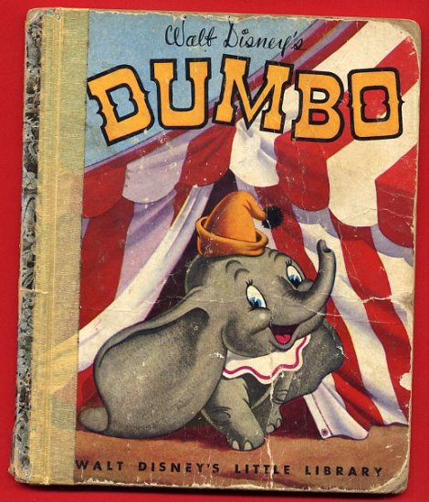 Vintage Little Golden Book LGB - Walt Disney's Dumbo edition M 1941 1947