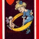 Vintage Comic Postcard - Cupid Angel & Valentine wedding band 122