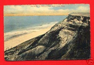 Vintage Postcard - Beach Bluffs at Highland Light, North Truro Cape Cod MA 75