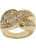 Beautiful Large Gold and Cubic Zirconia Ring-sz 6
