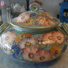Deruta Tureen Floral Gilded Italian Italy Hand Painted