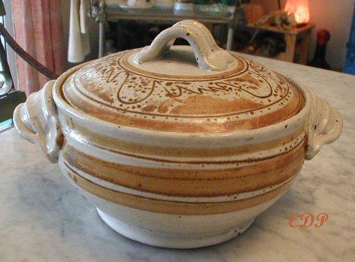 French Ceramic HAG Pottery Tureen Handmade