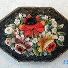 Antique Italian Micro Mosaic Flower Bouquet PIN Brooch