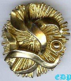50's Artist Zahara Schatz Pendant Brooch Pin Modernist