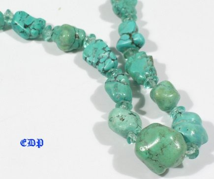 Estate Spiderweb Matrix Turquoise Necklace Knucklebone