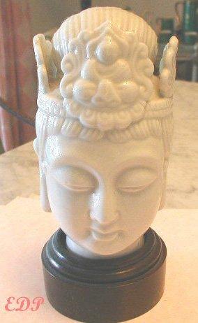Glazed Blanc de Chine Porcelain Guan Yin Buddha