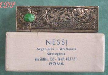 Peruzzi Lipstick Case Original Box Italy Art Deco MIB