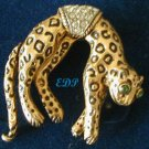 Florenza Leopard Brooch Moving Tail Cheetah Pin Cat