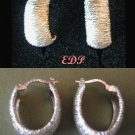 Italian Sterling Designer Hoop Earrings Italy 10 Grams