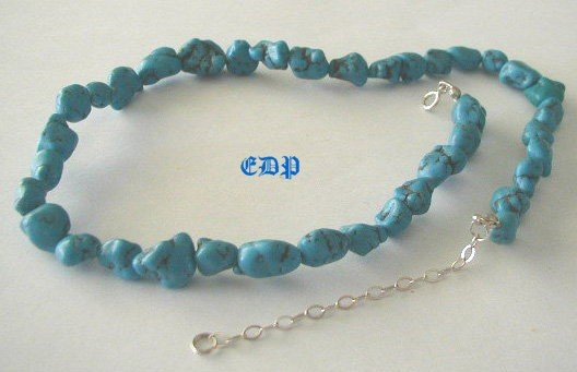 Sterling and Spiderweb Matrix Turquoise Necklace