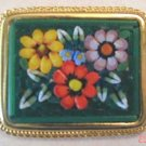 Italian Micro Mosaic Floral PIN or Brooch