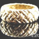 Sterling Unisex Braid Band Ring Sz 9 1/2 Italy
