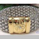 Nardi Bracelet Swarovski Crystal Studded Italian Italy