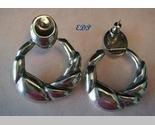 Italian Sterling Modernist Doorknocker Earrings Italy