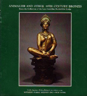 19th C Bronzes & Animalier Sotheby Auction Catalog '76