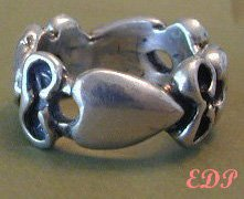 STERLING Band Ring Unisex Wedding Friendship Sz 9.25