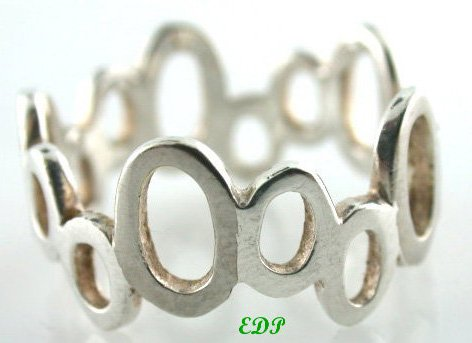 Sterling Band Ring Unisex Wedding Friendship Sz 7.50