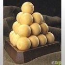 Brain Teaser FAO Schwarz Ball Pyramid Puzzle WOOD MIB