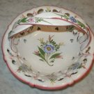 Porcelain Basket Handmade Bowl Baskets Floral Pottery