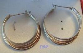 Sterling Earrings 4 in 1 Hoop Italy Italian Pierced