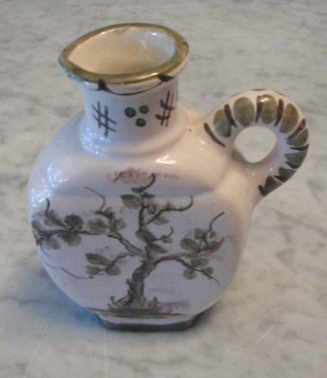 Hand Painted Tree Pitcher Decanter Jug Germany Pottery