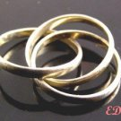 Sterling Unisex Rolling Puzzle Ring Sz 7 1/2 3 Rings
