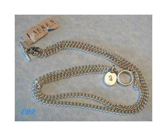 Ralph Lauren Double Curb Link Chain Necklace MWT