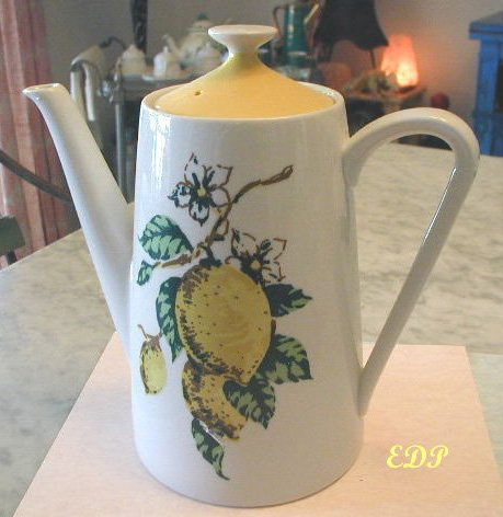 Lemon Design Ltd. Edition Coffee Chocolate Pot RETRO