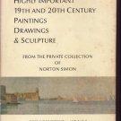 1971 Sotheby Auction HC Book Norton Simon Paintings