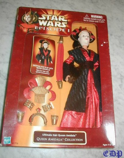 Queen Amidala Ultimate Hair Figurine Doll MIB STAR WARS