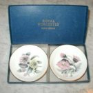 2 Royal Worcester Bone China Dishes MIB Pink Yellow