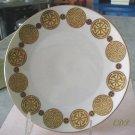 Gold Medallion Dish Plate Bavaria Albath & Katser