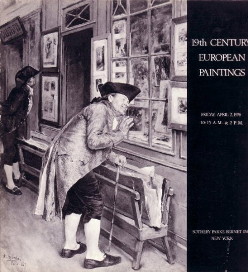 Apr.1976 Sotheby Auction Catalog 19C European Paintings