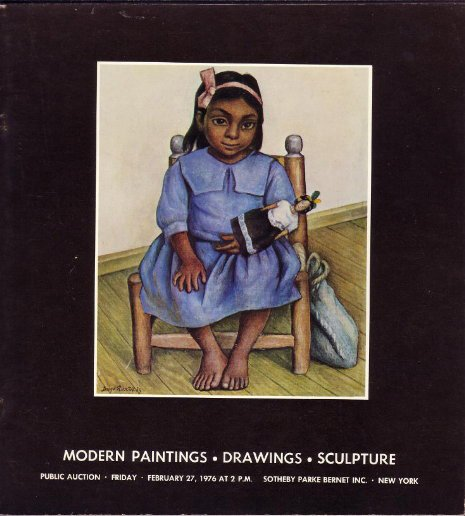 Modern Paintings Sculpture Sotheby Auction Catalog '76
