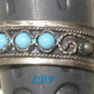 Persian Turquoise Etruscan Adjustable Ring Sterling